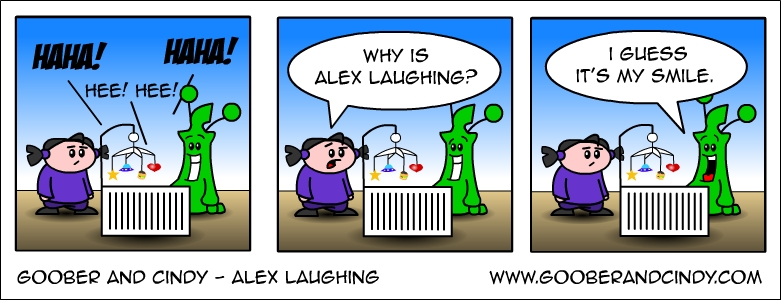 Alex laughing
