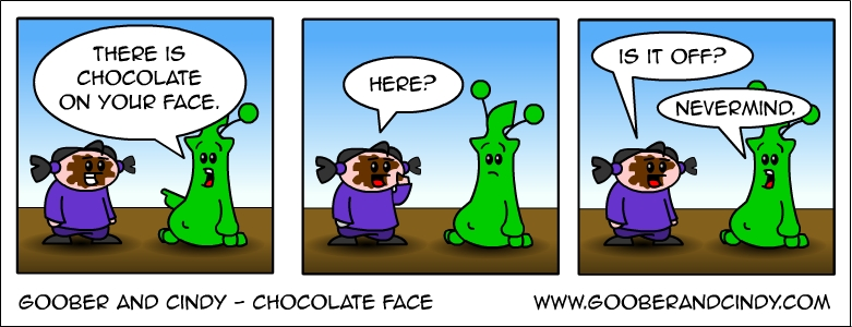 Chocolate face