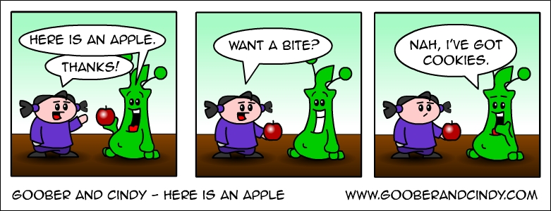 here-is-an-apple