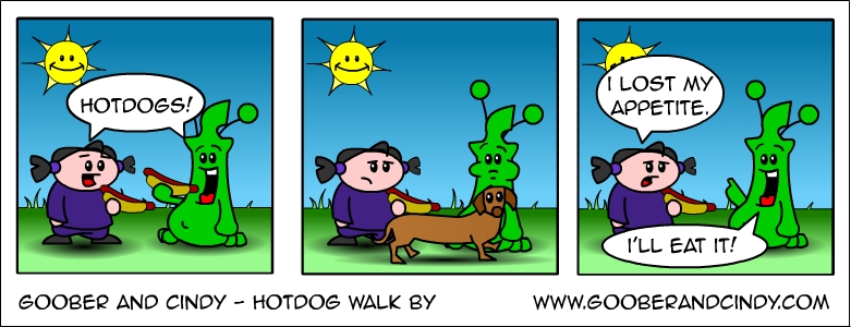 Hotdog walk by